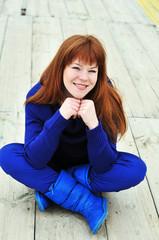bright redheaded girl
