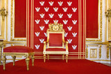 Fototapety Throne in Royal castle in Warsaw on World Heritage List.
