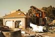 Leinwandbild Motiv jet plane crash site 2 of 3
