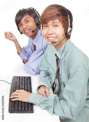 Asian support center agents