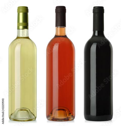 Foto Spatwand Bar Wine bottles blank no labels