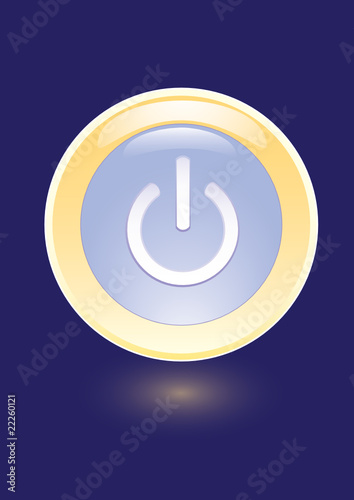 Vector icon with power on sign
