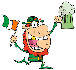 Happy Leprechaun With A Golden Tooth,