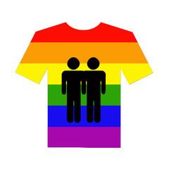 camiseta pareja gays