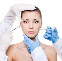 botox injection in female skin