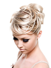 Beautiful creative hairstyle