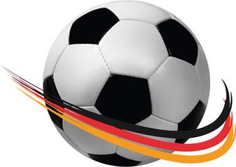 Fussball schwarz rot gold