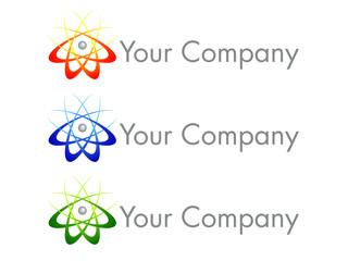 Atom Logo Design Icon
