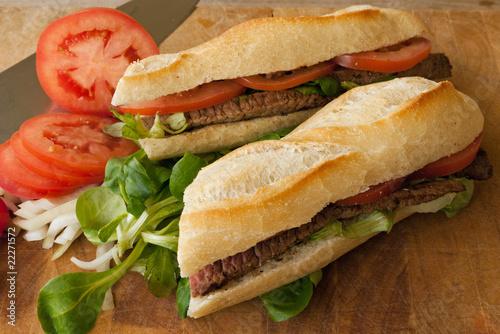 Leinwandbild Motiv sandwich