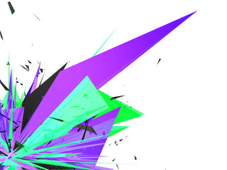 abstrakte Farbexplosion