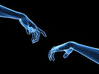 Hände - Gitternetz