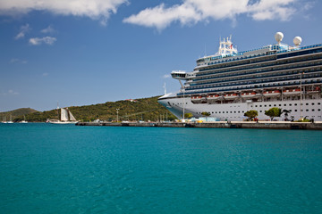 Cruise Ship in St. Thomas Port