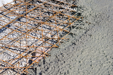 Cement background - a series of CONSTRUCTION images.