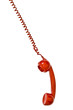 telephone receiver red