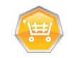 Shopping Trolley Cash Coin Logo Design Icon