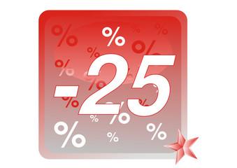 Minus Fünfundzwanzig Prozent