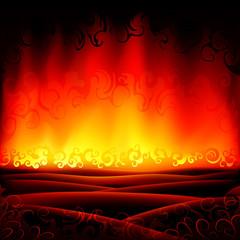 Fantastic burning hell background