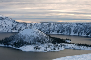 Crater Lake Winter Wonderland