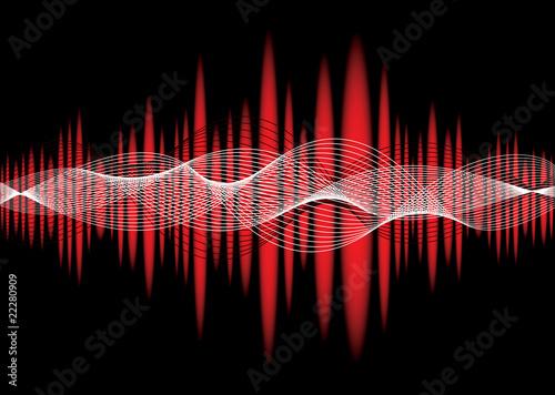 music equaliser wave red