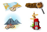 Camping icons 1 poster