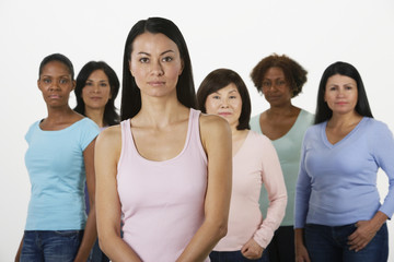 Group of multi-ethnic women