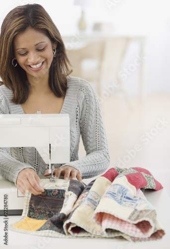 Indian woman sewing
