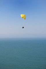 Double Paragliding above ocean