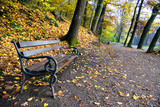 autumn in the park maksimir in zagreb poster
