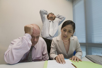 Group of frustrated multi-ethnic businesspeople