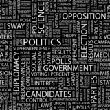 POLITICS. Seamless vector background. poster