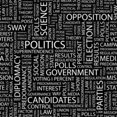 POLITICS. Seamless vector background.