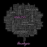 ANALYSIS. Wordcloud vector illustration.