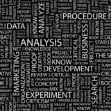 ANALYSIS. Seamless vector pattern with word cloud. poster
