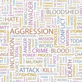 AGGRESSION. Seamless vector background. poster