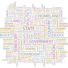STATE. Word collage on white background.