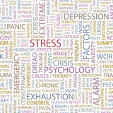 STRESS. Seamless vector background. poster