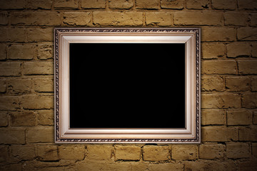brick wall with a frame