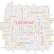 TERRORISM. Wordcloud illustration.