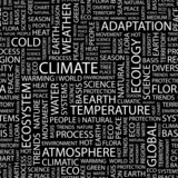 CLIMATE. Seamless vector pattern with word cloud. poster