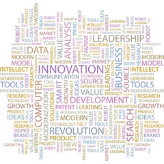 INNOVATION. Word collage on white background.