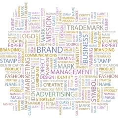 BRAND. Wordcloud illustration.