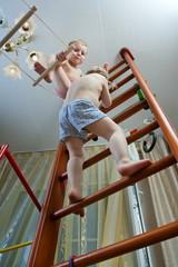 boys on ladder