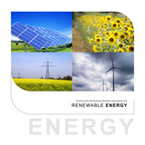 renewable energy collage poster
