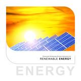 renewable energy - solar cells poster