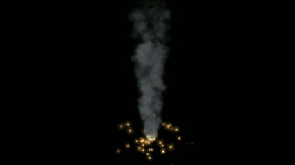 Smoke and golden particles,seamless loop
