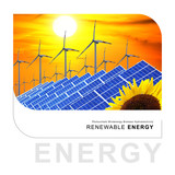 renewable energy - sun and wind poster