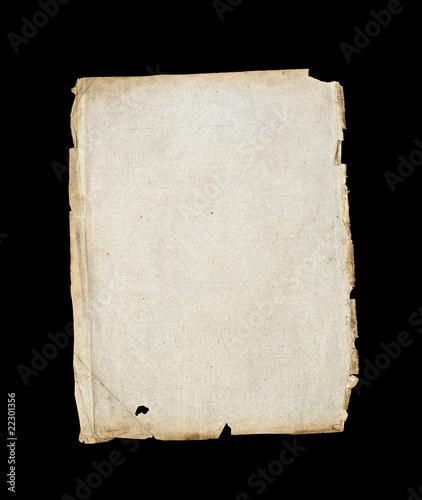 Parchment paper on black