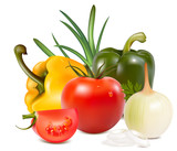 Photo-realistic vector. Vegetables.
