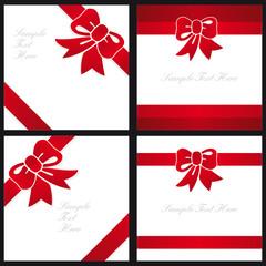 tarjeta de regalo con lazo rojo