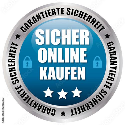 Sicher Online Kaufen - Garantierte Sicherheit - blau